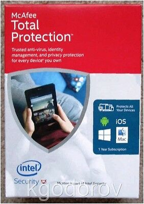 McAfee Total Protection 2016 Unlimited Devices PC/Mac/Android/iOS 1 Year License
