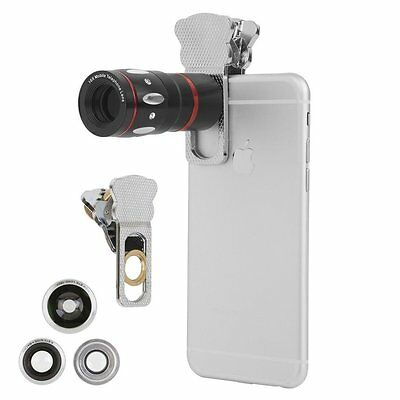 4 In 1 Mobile Phone lens 10X Telephoto Telescope Clamp Clip Lens for iphone 6s