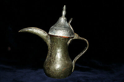 Old Antique Ottoman Arabic Yemen Arabian Copper Coffee Pot Dellah Saudi Arabia