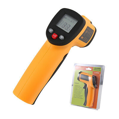 Digital -50 to 550℃ LCD Infrared Thermometer Laser IR Non-Contact Gun Point