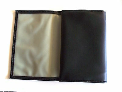 Black PVC 2oz Tobacco Pouch Holder With Fold Closure Rubber Lined New