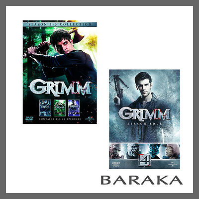 Grimm the complete Season series 1, 2, 3 & 4 DVD box set Region 4 New & Sealed