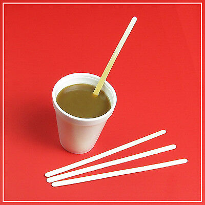 100 Wooden Tea Coffee Hot Drink Stirrers, Sticks 19cm 7.5 inch FROM SYDNEY