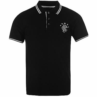 Rangers FC Tipped Polo Shirt SS Tee Top Mens Gents