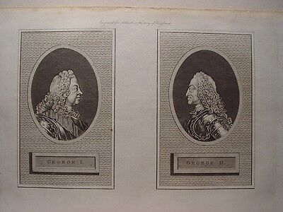 «George I and George II» Engravig for Ashburton´s History of England.