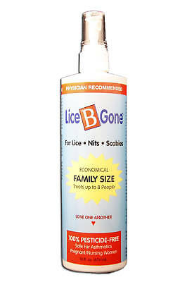 Lice B Gone SAFE Alcohol-Free, All Natura Shampoo Remove Nits FAST SHIPPING 16oz