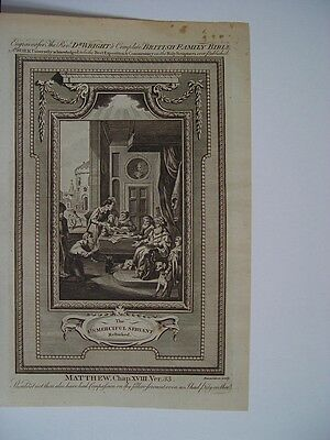 «Usmerciful servant» Complete British Family Bible. Engraved by the Rev. R. Wrig