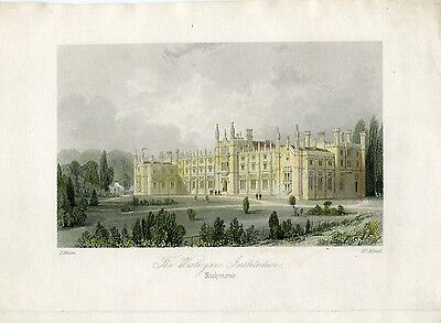 Inglaterra. Richmond. «The Wesleyan Institution» grabdo en 1850 por H. Adlard so