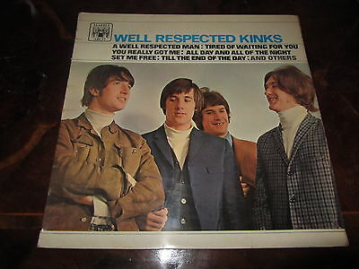 THE KINKS WELL RESPECTED KINKS 1965 UK LP MAL 612 180gr A1/B1 First Pressing
