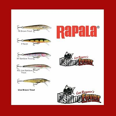 Rapala Original Floating Lures F-7 Brown Trout, Rainbow Trout, Perch, Live RT