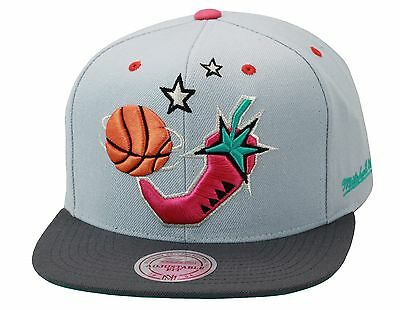 Mitchell   Ness NBA All Star Game Snapback GREY PINK PEPPER Lebron South  Beach 9 8e3d9c762761