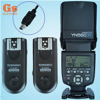 Yongnuo YN-560 IV Flash Speedlite + RF-603 Trigger N3 for Nikon D3100 D90 D7000