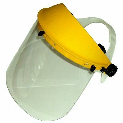 Yellow Full Face Safety Shield Mask Visor For Wood Work Lathe Turning Logs