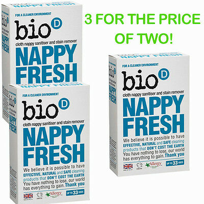 Bio D Nappy Fresh Eco Natural Antibacterial Washing Powder 3 FOR THE PRICE OF 2