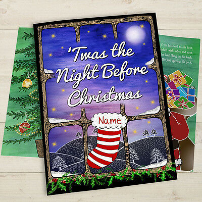 Personalised Twas The Night Before Christmas Book – Softback Gift Idea