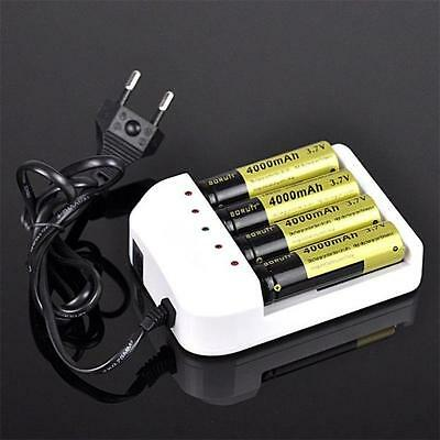 Universal 4 Output Intelligent Li-ion/NiMH 18650/26650/AA/AAA Battery Charger