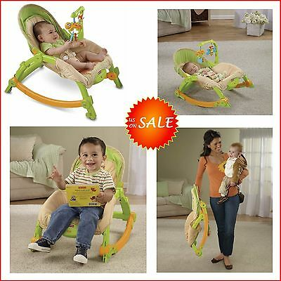 Portable Baby Infant Seat Rocker Nursery Chair Bed Travel Fisher Price Bouncer