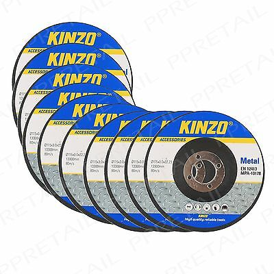 "10 x Metal Pro 115mm/4.5"" Cutting Disc 3mm Angle Grinder Blade 22.2mm Bore Pack"