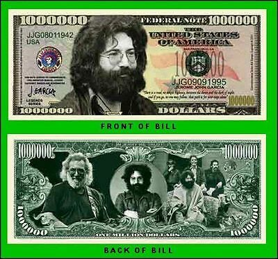 15 Factory Fresh Jerry Garcia (Grateful Dead) Novelty Million Dollar Bills