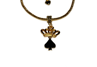 Hotwife Queen Of Spades Gold Euro Anklet Cuckold BBC Ankle Chain QOS Style 2