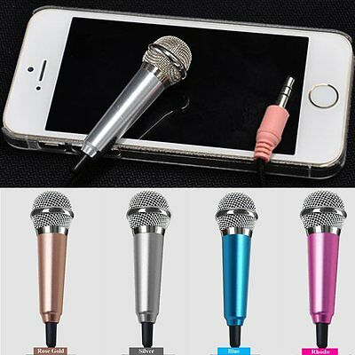 3.5mm Mini Microphone Mic for iPhone LG HTC Tablet PC Laptop Desktop Speech Sing