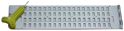 Large-Cell Jumbo Braille Slate and Stylus, Made of Metal