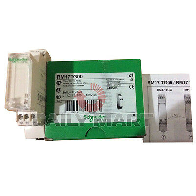 New Schneider Electric RM17-TG00 208-480 5-PHASE MONITORING RELAY 250V 5AMP RM17