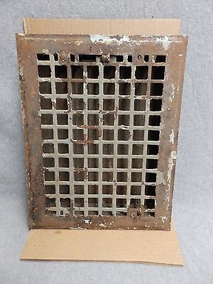 Vintage Stamped Steel Floor Heat Grate Register Vent Old Hardware 5212-15
