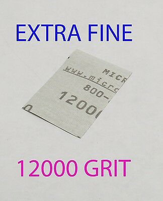 "Micro-Mesh Finishing  Wet/Dry 1 sheet  2 '' x 3"" 12000 grit Extra Fine SANDPAPER"