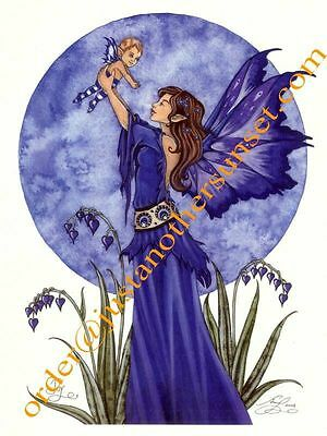 """Amy Brown Fairy Faery Print 8.5""""x11"""" Joy Mother Baby Pregnant Maternity Shower"""