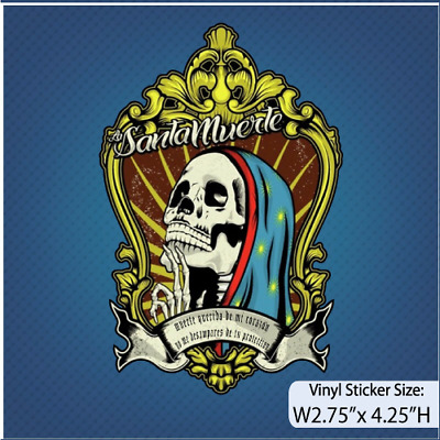 La Santa Muerte / Muerte / Decal / Vinyl Sticker