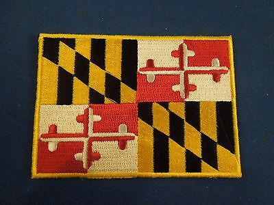 United States of America Maryland State Flag Embroidered Iron On Patch