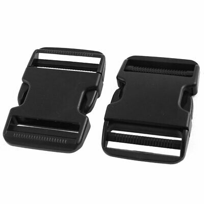 Pack Bag Plastic Spare Part Side Quick Release Buckles Clasps Black 2 Pcs