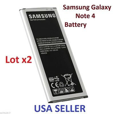 Lot 2 EB-BN910 3200 mAh Battery For Samsung Galaxy Note 4 IV SM-N910 N910A N9100