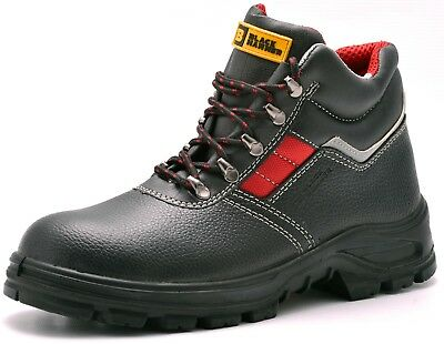 Leather Mens Safety Boots Steel Toe Cap Work Shoes Ankle Size S3 Rated 5-13 UK