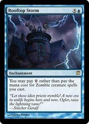ROOFTOP STORM Innistrad MTG Blue Enchantment RARE Zombie