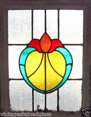 Antique Stained Glass Window Four color Fantastic Design Fancy Tulip      (2453)