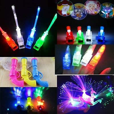 20pcs Magic LED Fiber Projector Peacock Night Light Children Kids Toy Gift