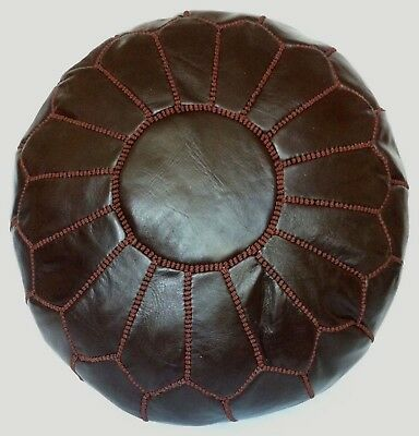 Moroccan Handcrafted 100% Leather Pouffe, Footstool, Ottoman