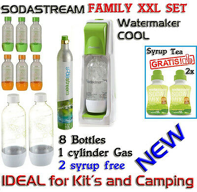 SodaStream COOL Sparkling Water Maker 1 Gaz 8 Bottle 2 Syrup Gratis BRAND  NEW