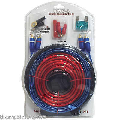 Amplifier Installation Wiring Kit Car Power Amp Install Power RCA Cable 12 Gauge