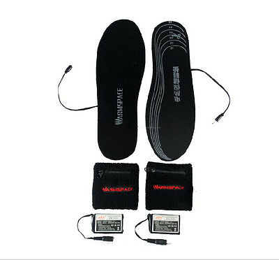1600MAH Battery Unisex Heated Insole Electric Powered Shoes Boots Keep Feet Warm
