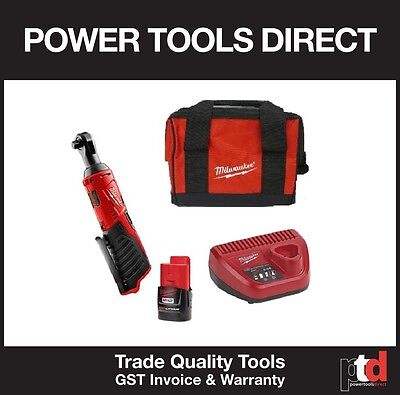 "New Milwaukee 12V Cordless M12Ir-0 3/8"" Square Drive Ratchet Battery Kit"