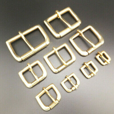 """Solid Brass [ 3/8"""" to 2"""" ] Single Roller Belt Buckle Various Packs Sizes"""