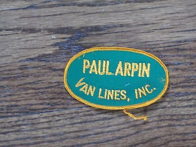 trucking patch paul arpin van lines  patch, new old stock,60's