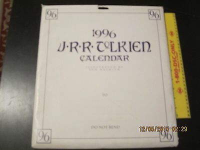 Jrr Tolkien Calendar 1996 - Lord Of The Rings-With Original Mailer