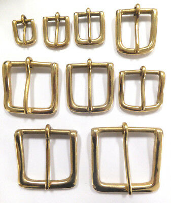 """SOLID BRASS WEST END SINGLE BUCKLE 1/2"""" to 2"""" in packs of 1,2,5 and 10"""