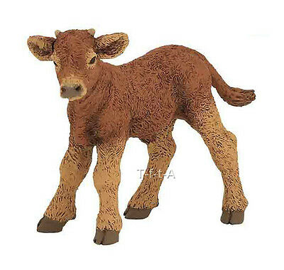 FREE SHIPPING   Papo 51132 Limousine Calf Farm Animal Figurine- New in Package