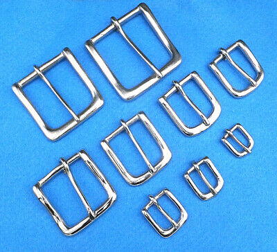 "N -  NICKEL PLATED on Solid Brass  WEST END BUCKLE 1/2"" to 2"" packs of 1 to 10"