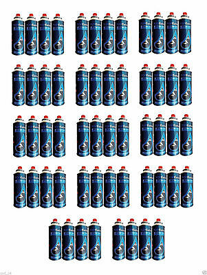 56x BUTANE GAS CAN CANISTERS BOTTLES OUTDOOR GRILLS STOVES HEATERS FLAMES COOK